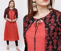 12 Latest Kurti Neck Designs Ideas and Patterns: 2019 Salwar Suit Neck Designs, Churidar Designs, Neck Designs For Suits, Kurta Neck Design, Sleeves Designs For Dresses, Dress Neck Designs, Fancy Blouse Designs, Neckline Designs, Simple Kurta Designs