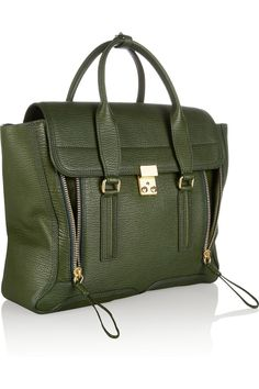 Investment piece? $895. 3.1 Phillip Lim | The Pashli shark-effect leather trapeze tote | NET-A-PORTER.COM