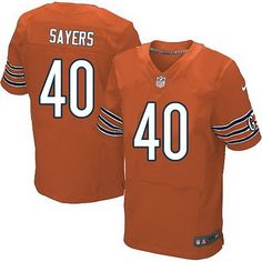 Chicago Bears #40 Gale Sayers Orange Retired Player NFL Nike Elite Jersey