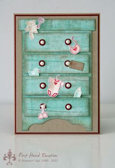 Punches and rectangles for Dresser Stampin' UP! by First Hand Emotion