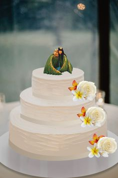 Here's a mock up of my wedding cake idea. based on Disney Pixar's I Lava You short film.