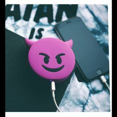 Running out of battery is the least of your worries. The Purple Devil Power Bank keeps your iPhone charged up. That way you can focus on getting in trouble. The Purple Devil Portable USB Charger is an Cute Portable Charger, Accessoires Iphone, Smartphone, Iphone Accessories, Auto Accessories, Coque Iphone, New Phones, Mobile Phones, Mobiles