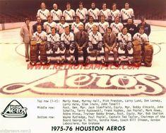 1975-76 Houston Aeros wha Reprint Hockey Team Photo Houston Aeros, Hockey Cards, Team Photos, Hockey Teams, Preston, Sports, Hs Sports, Team Pictures, Sport