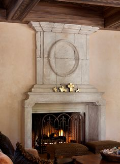 Family room fireplace detail. #architecture #fireplace #antique #estates #italian