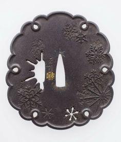 Kano Natsuo snowflake tsuba