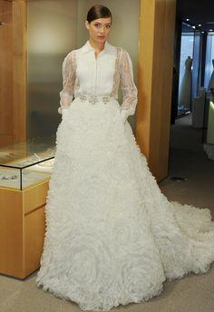 Pronovias Wedding Dresses Fall 2015   Maria Valentino/ MCV Photo   blog.theknot.com