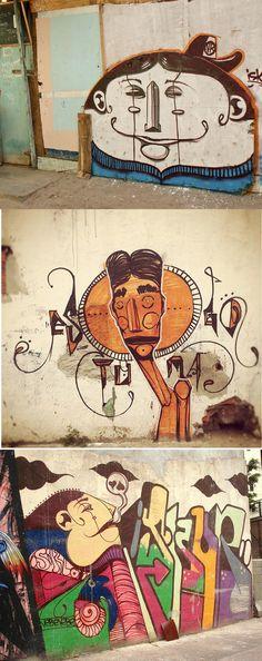 Murals by Brazilian artist Iskör