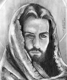 Creative for Christ Fan Art: Jesus - A Portrait Jesus Christ Drawing, Human Face Sketch, Pictures Of Christ, Jesus Is Coming, Self Design, Animal Sketches, Jesus Saves, Beautiful Drawings, Pictures To Draw