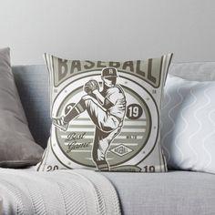 Vintage Baseball Pillows & Cushions   Redbubble Daybed Pillows, Cushions, Throw Pillows, Best Games, Baseball, Vintage, Design, Toss Pillows, Toss Pillows