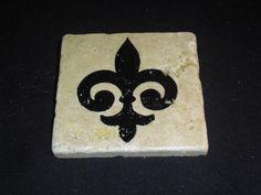 Custom Natural Stone Coasters, Set of 4