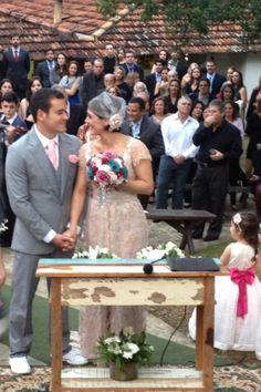 Cerimônia no campo! #wedding Brazilian Country wedding