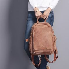 Top grain leather backpack women leather bag real by OrisDesigns