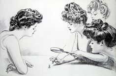 "This illustration by Charles Dana Gibson was simply titled, ""The Weaker Sex."" The pen and ink illustration was first published in Collier's weekly on July 4, 1903. Gibson is most famous for his creationg of the iconic Gibson Girls and his work appeared in a number of New York City publications at the turn of the century."