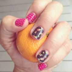 Jamberry Nail Wraps. Cup of Tea Wrap.  Kiss Jamberry polish layered with White Mini Polka wrap! Love it!!   Online catalog here: http://rross.jamberrynails.net
