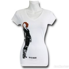 Images of Black Widow AoU Minimalist V-Neck Women's T-Shirt