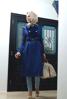blue and beige <3 turkish hijab
