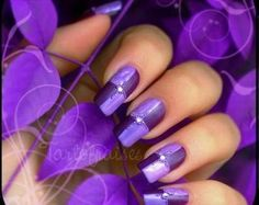 Perfect Purple~ from 27 Nail Art Ideas And Nail Designs Loading. Perfect Purple~ from 27 Nail Art Ideas And Nail Designs Nail Art Violet, Purple Nail Art, Purple Nail Designs, Best Nail Art Designs, Colorful Nails, Fancy Nails, Love Nails, How To Do Nails, Sparkly Nails
