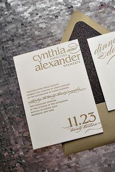 Classic Wedding Invitation Suite Modern Wedding Invitations