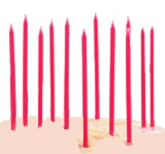 TAG Birthday Party Cupcake  Cake Candles Set of 12 Pretty in Pink *** Read more  at the image link.