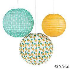 Pineapple-Printed Lanterns $8.00