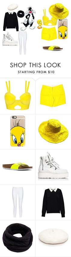 """""""Animated Cartoons :)"""" by jovanaaavuckovic ❤ liked on Polyvore featuring J.Crew, Casetify, Birkenstock, Puma, 10 Crosby Derek Lam, Essentiel, Helmut Lang and New Directions"""