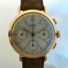 JAEGER vintage chronograph pink gold caliber 285   a