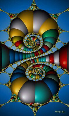 Fractial Art......I remember going to San Francisco on the weekends back in the late 80's & early 90's and buying these awesome fractal posters on Market, the Haight, and at Pier 39.......Boy do I wish I still had those posters today.....