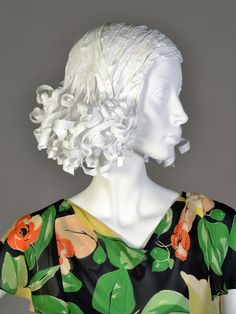 1930s style paper wig. Made for Kent State University Museum's Timeline exhibit.