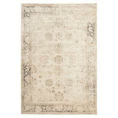 Anchor your dining set or living room seating group in chic style with this art silk rug, showcasing a distressed Persian motif in stone.  ...