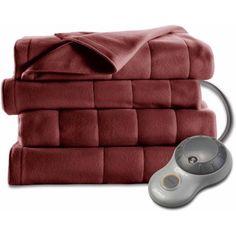 Sunbeam Electric Heated Fleece Blanket - Walmart.com