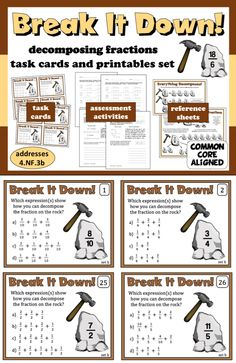 Decomposing Fractions | Fractions | Pinterest | Math