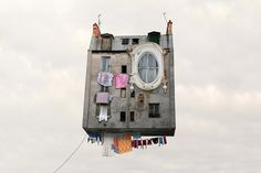 """Parisian photographerLaurent Chéhère unveils his latest series -- aptly titled """"Flying Houses."""" With a proclivity to imaginative ideas, the Frenchman's project draws from his love of cinema and perso..."""