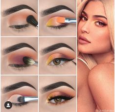 Here is Kylie Jenner Style Eye Makeup Tutorial! - Here is Kylie Jenner Style Eye Makeup Tutorial! Kylie Jenner Makeup Natural, Kylie Jenner Eyes, Kylie Jenner Makeup Tutorial, Kylie Makeup, Prom Makeup, Rave Makeup, Wedding Makeup, Makeup Eye Looks, Eye Makeup Steps