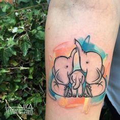 50 Colorful Sketch Tattoos by Luca Testadiferro 50 Colorful Sk. - 50 Colorful Sketch Tattoos by Luca Testadiferro 50 Colorful Sketch Tattoos by Luc - Animal Tattoos For Women, Cute Animal Tattoos, Cute Little Tattoos, Tattoos For Kids, Arm Tattoos For Guys, Parent Tattoos, Family Tattoos, Mom Tattoos, Cute Tattoos