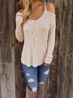 V-neck Strapless Solid T-shirt Casual Sexy Loose Tee Shirts - Shops Hive
