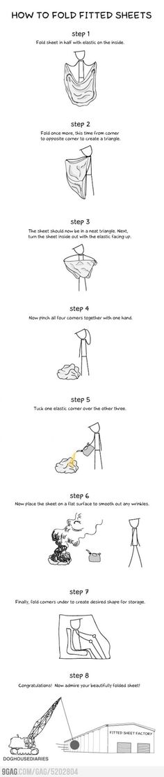 How To Fold Fitted Sheets seriously I just spin it up in a jumbled mess ball and stuff it in the closet