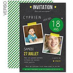 Carte D Invitation Anniversaire 18 Ans Facon Liste A Personnaliser
