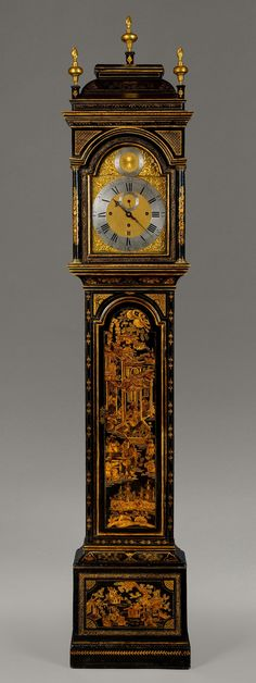An Antique Chinoiserie Longcase Clock