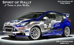 Ford Focus 2013 Rally car #WRC #ST #R