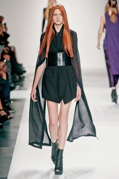 Wide, angled. Ann Demeulemeester Spring 2013 RTW Collection - Fashion on TheCut