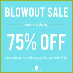 It's our biggest sale of the season! We're making room for our summer arrivals, so we're offering you 75% off over 200 items. No promotion code required, select items are already marked down. Offer ends 6/19/2014 at 11:59 pm EST. Shop now: www.ShopTheShoppingBag.com
