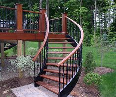 outdoor stairs ideas | ... -stringer stairs. Here is a photo of a fantastic set of curved stairs
