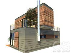 projekt koncepcyjny jednorodzinnego domu w systemie modułowym