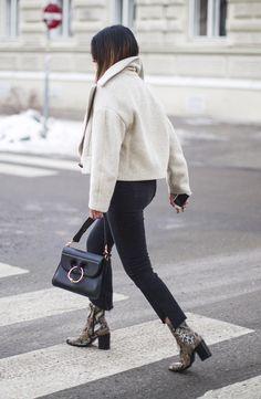 Fashion Landscape | Styling the Cropped Jacket + Snake Boots