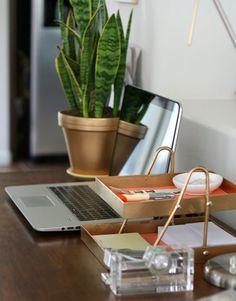 Poppytalk: DIY Decor. Gold desk organizer