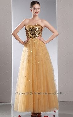 Fascinating Sequined Princess Evening Dress/Prom Dress With Cute Sweetheart