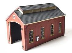 Scenix Model Railway Single Track Engine Shed – OO Gauge Shop Buildings, Train Set, Model Trains, Gauges, Scenery, Shed, Engineering, Track, Outdoor Structures