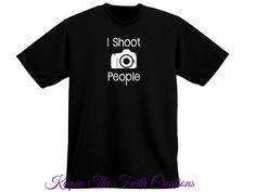 I Shoot People T-shirt - I Shoot People Shirt - Photographer T-shirt - Photographer Humor - Photographer Gift - Funny Shirt - Camera Lovers - DSLR Gift