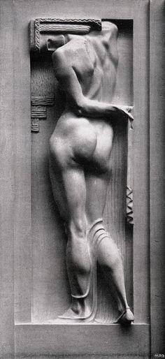Franz Metzner - relief on facade of Weinhaus Rheingold, Berlin, Germany 1907