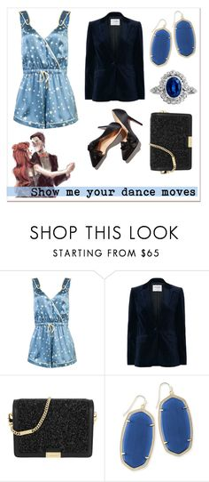"""""""The date series: dance the night away"""" by annab-poe ❤ liked on Polyvore featuring Morgan Lane, Frame, MICHAEL Michael Kors, Kendra Scott and playsuits"""